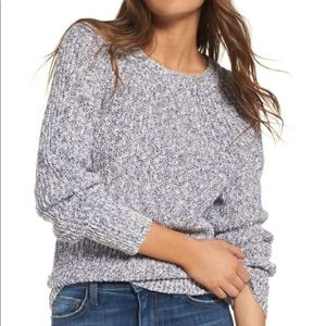 Free People Electric City Sweater Blue Pullover